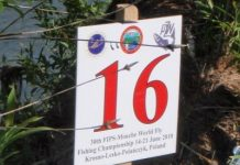 Marker peg from the 2010 Fly Fishing World Championships
