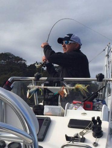 Fly fishing for Kingfish