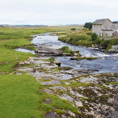 The falls at Westerdale and the Millstream on beat eight of the River Thurso